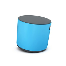 Blue Buoy Stool, Gray Seat