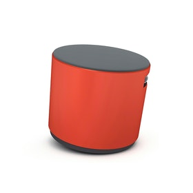 Red Buoy Stool, Gray Seat