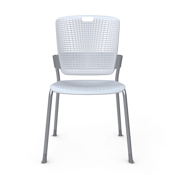 Shell Light Gray Cinto Chair, Silver Frame,Gray,hi-res