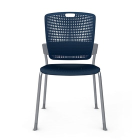 Shell Navy Cinto Chair, Silver Frame