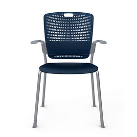 Cinto Chair with Arms, Silver Frame