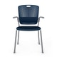 Shell Blue Cinto Chair wth Arms, Silver Frame,Navy,hi-res