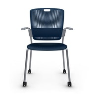 Cinto Chair with Arms, Rolling, Silver Frame,,hi-res