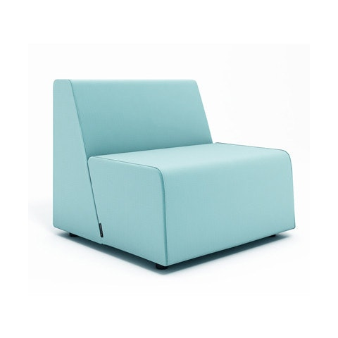 campfire half lounge chair, aqua| modern office furniture | poppin