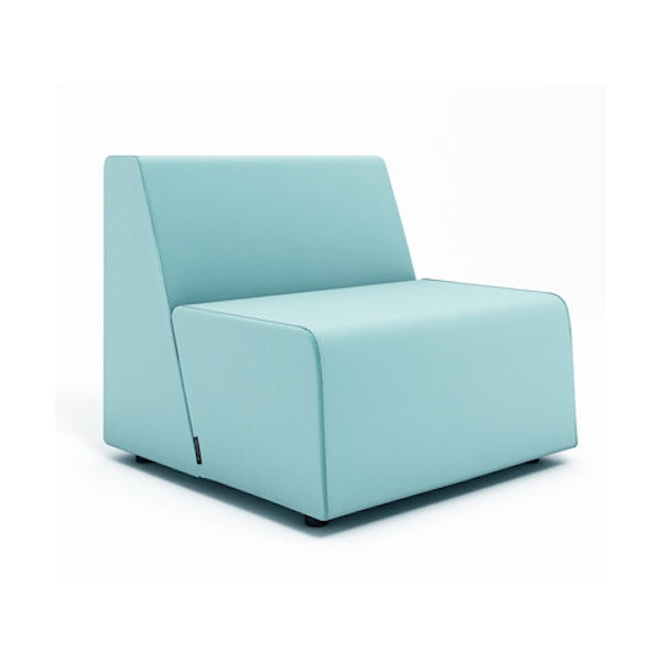 Campfire Half Lounge Chair, Aqua,Aqua,hi-res