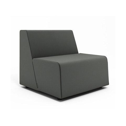 Campfire Half Lounge Chair, Gray,Gray,hi Res