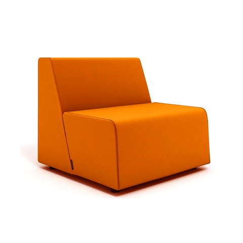 Campfire Half Lounge Chair, Orange,Orange,hi Res