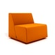 Campfire Half Lounge Chair, Orange,Orange,hi-res