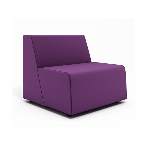 Beau Campfire Half Lounge Chair, Purple,Purple,hi Res