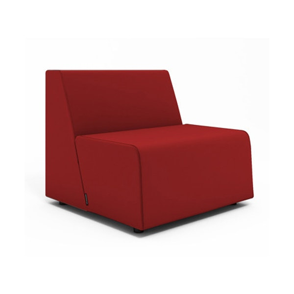 Campfire Half Lounge Chair, Red,Red,hi-res
