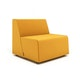 Campfire Half Lounge Chair, Yellow,Yellow,hi-res