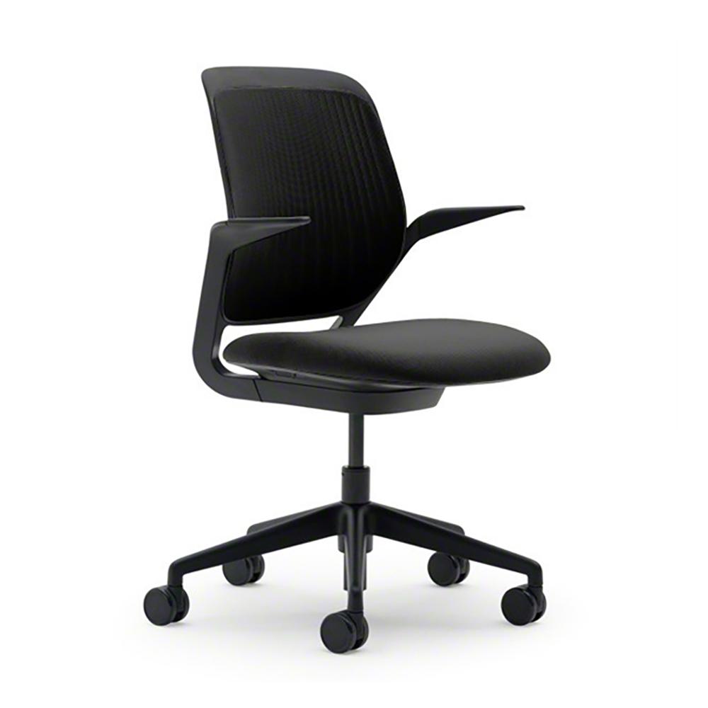 black desk chair. Black Cobi Desk Chair, Frame,Black,hi-res Chair R