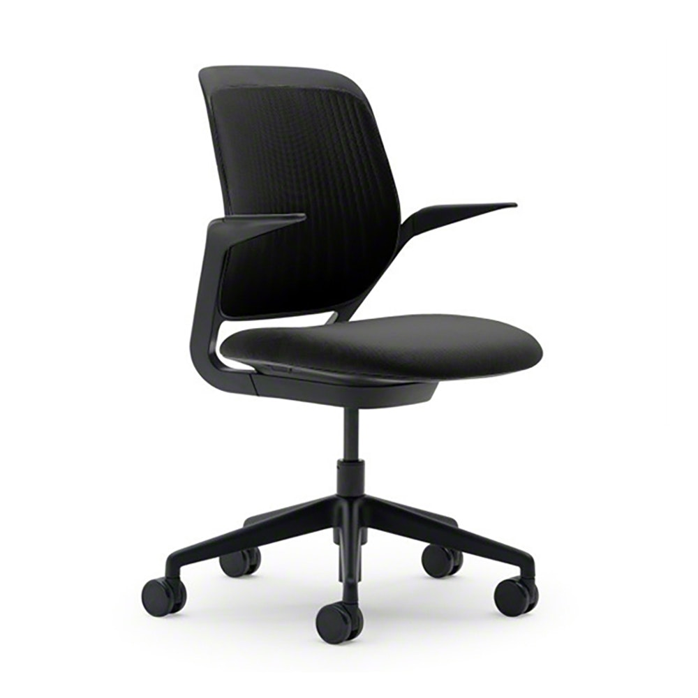 Etonnant Black Cobi Desk Chair, Black Frame,Black,hi Res