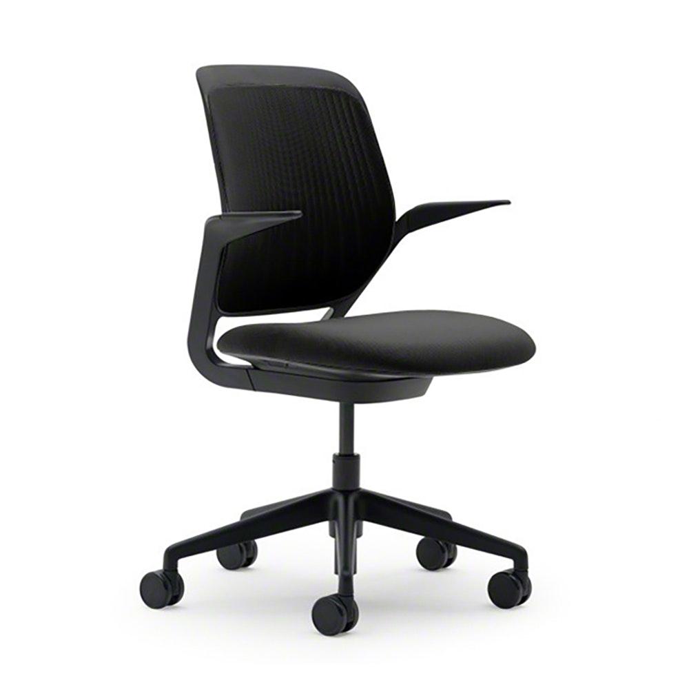Superbe Black Cobi Desk Chair, Black Frame,Black,hi Res