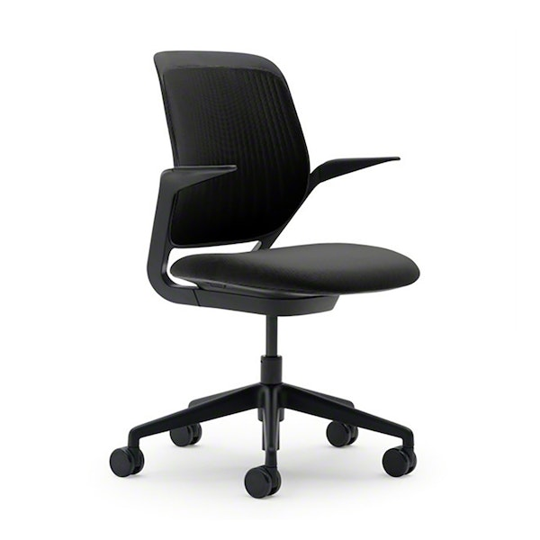 Black Cobi Desk Chair, Black Frame,Black,hi-res