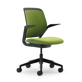 Lime Green Cobi Desk Chair, Black Frame