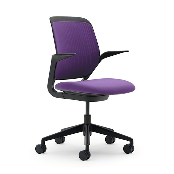 Purple Cobi Desk Chair, Black Frame,Purple,hi-res