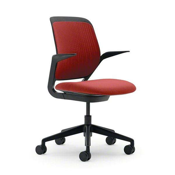 Red Cobi Desk Chair, Black Frame,Red,hi-res