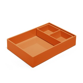 Orange Double Tray,Orange,hi-res