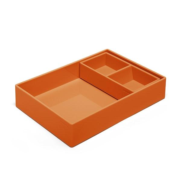 Orange Double Tray,Orange,hi-res
