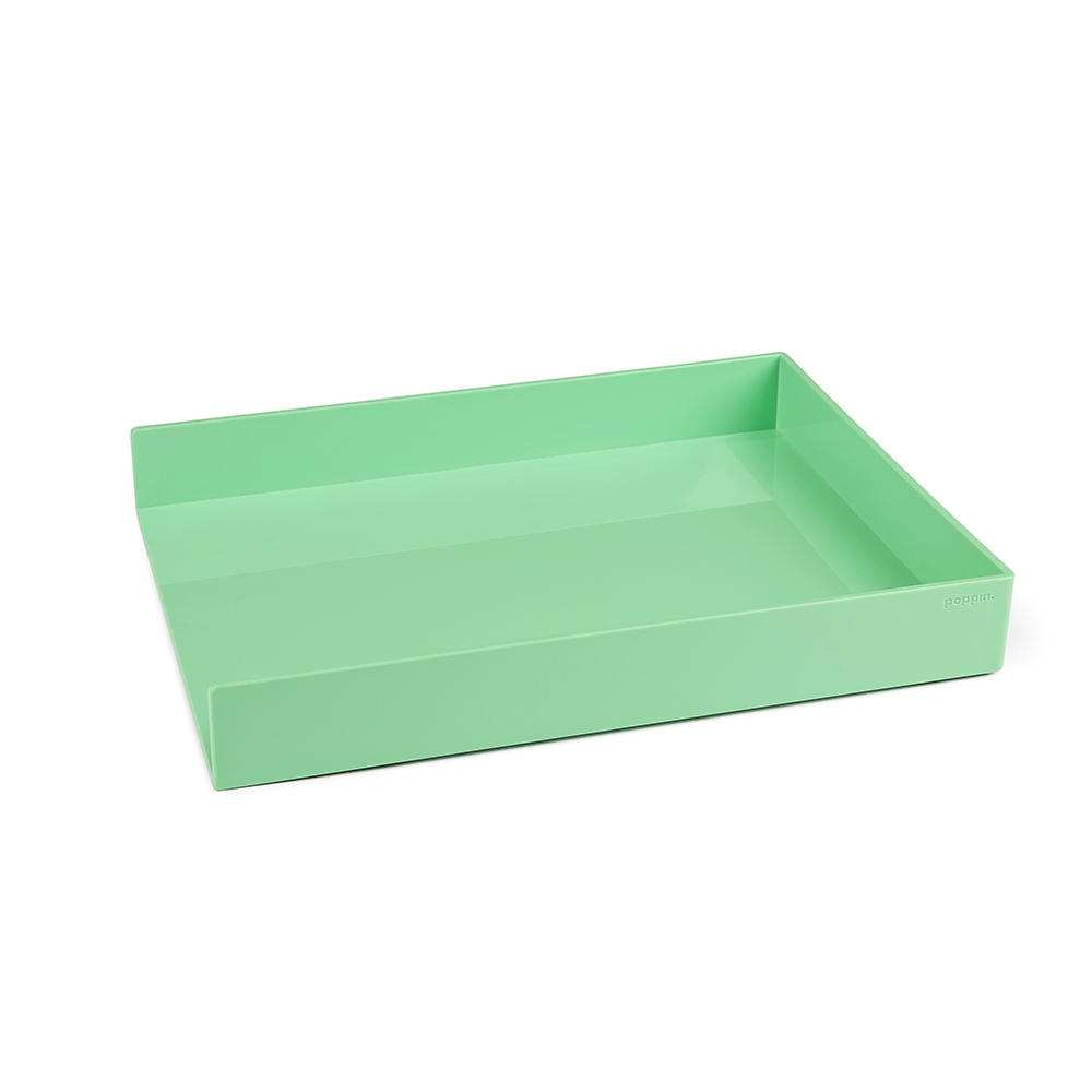 Magnificent Mint Single Letter Tray Desk Organization Trays Poppin Download Free Architecture Designs Oxytwazosbritishbridgeorg
