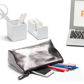 Gunmetal + Navy Medium Accessory Pouch