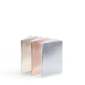 Metallic Assorted Mini Soft Cover Notebook, Set of 3