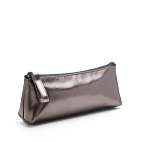 Gunmetal + Navy Pencil Pouch