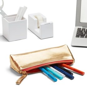 Gold + Coral Pencil Pouch