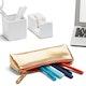 Gold + Coral Pencil Pouch,Gold,hi-res
