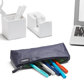 Navy + Mint Pencil Pouch