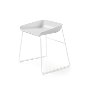 Scoop Low Stool, White Frame,White,hi-res