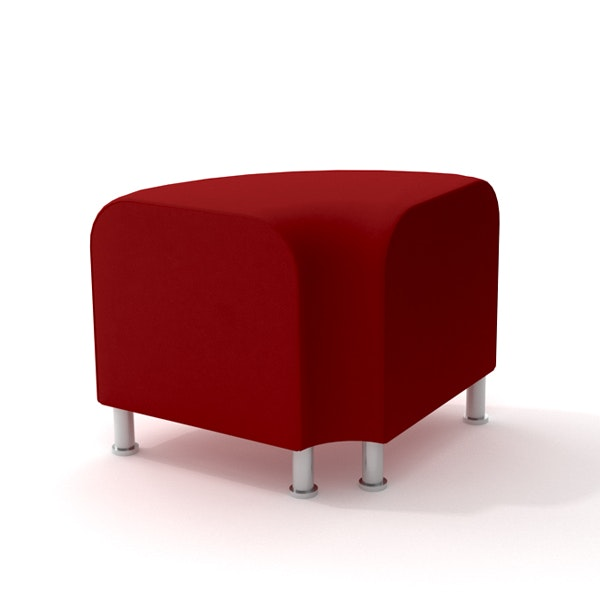 Alight Corner Bench, Red,Red,hi-res