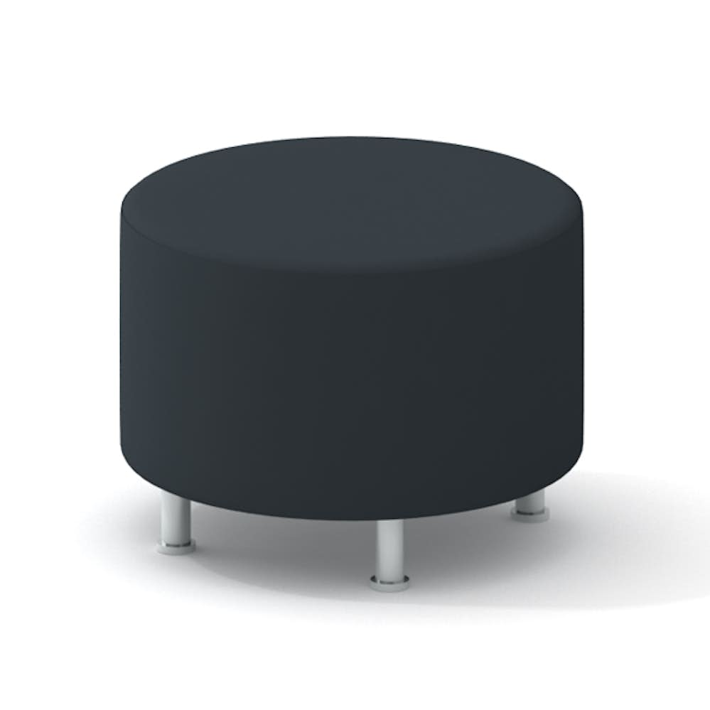 Fine Alight Round Ottoman Gray Gmtry Best Dining Table And Chair Ideas Images Gmtryco
