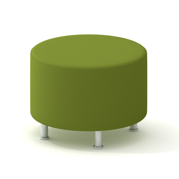 Beau Alight Round Ottoman, Green,Green,hi Res. Loading Zoom