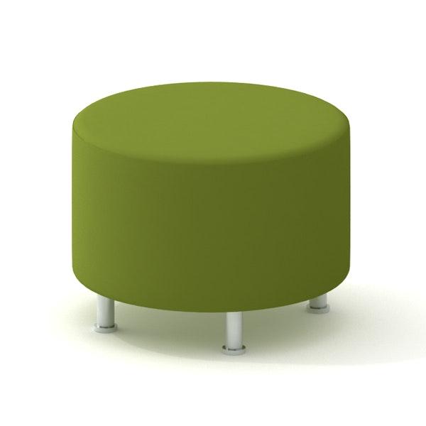 Alight Round Ottoman, Green,Green,hi-res