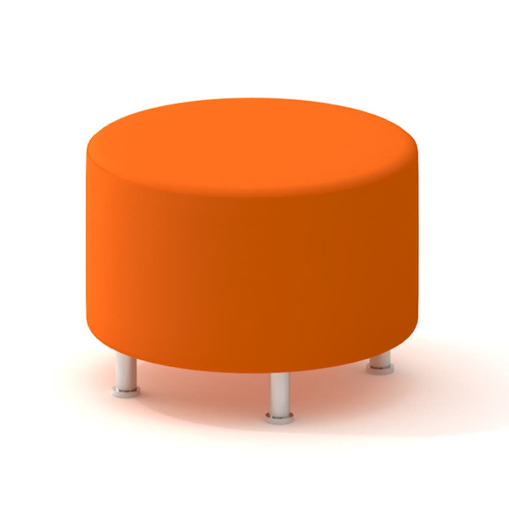 Swell Alight Round Ottoman Orange Gmtry Best Dining Table And Chair Ideas Images Gmtryco