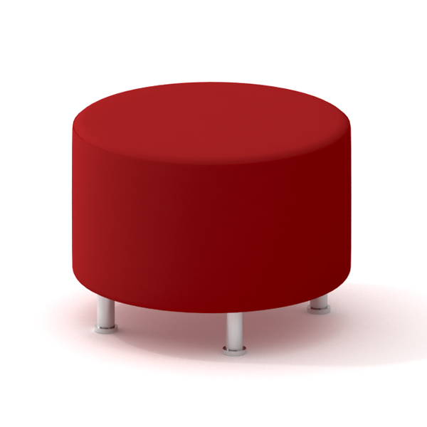 Charmant Alight Round Ottoman, Red,Red,hi Res. Loading Zoom