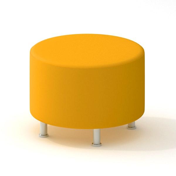 Alight Round Ottoman, Yellow,Yellow,hi Res