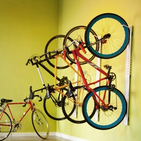 White Wall Mount Bivi Bike Hook