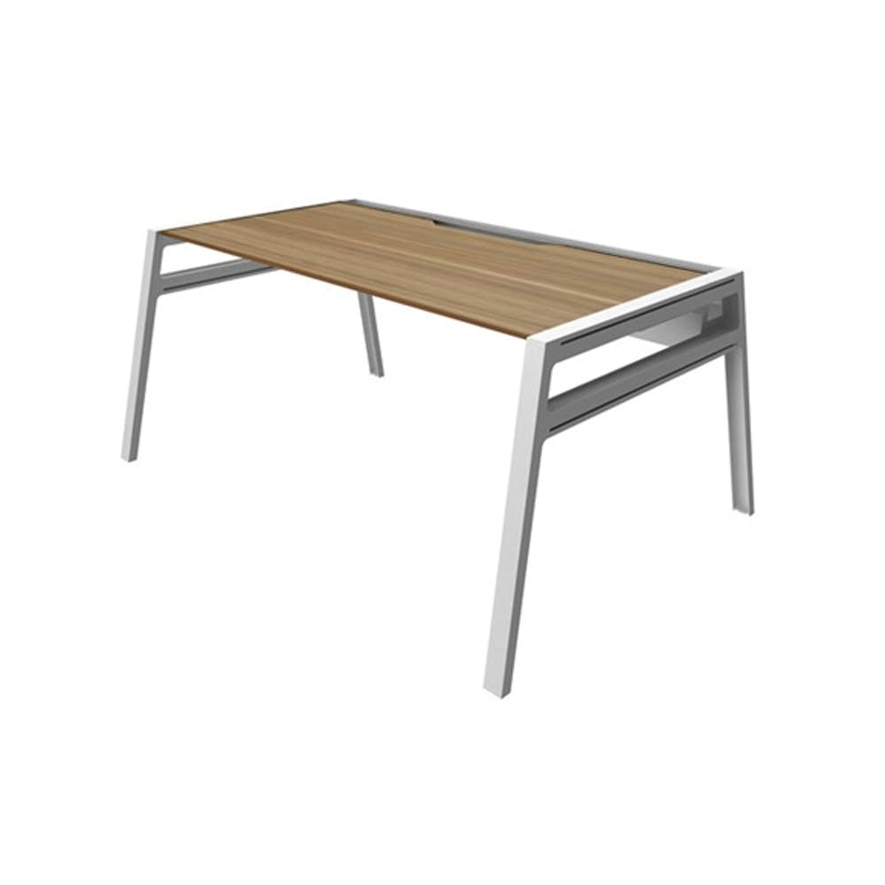 Astounding Bivi Desk For One Virginia Walnut 60 White Frame Download Free Architecture Designs Pushbritishbridgeorg
