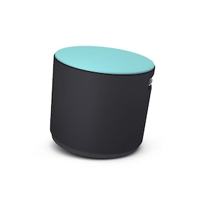 Black Buoy Stool, Aqua Seat