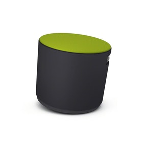Black Buoy Stool, Green Seat,Lime Green,hi-res