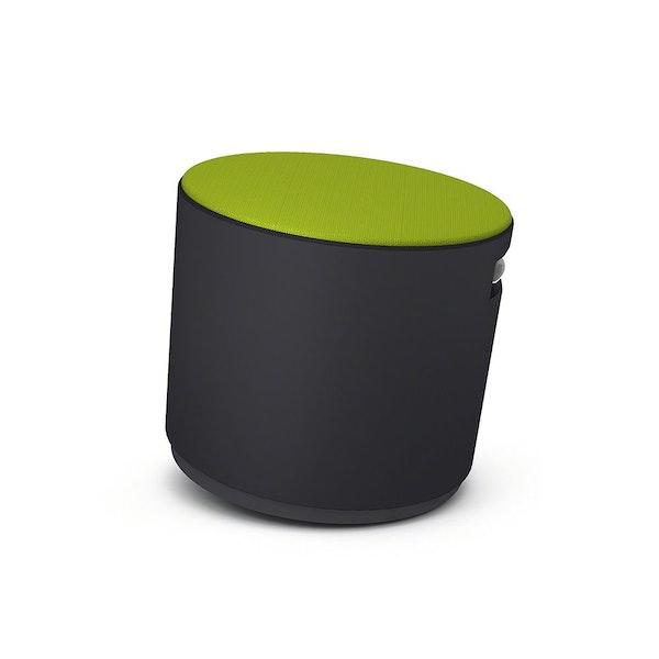 Black Buoy Stool, Green Seat,Lime Green,hi-res
