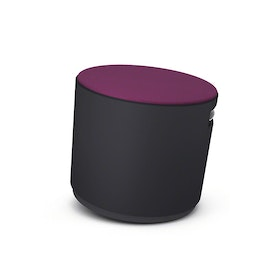 Black Buoy Stool, Purple Seat