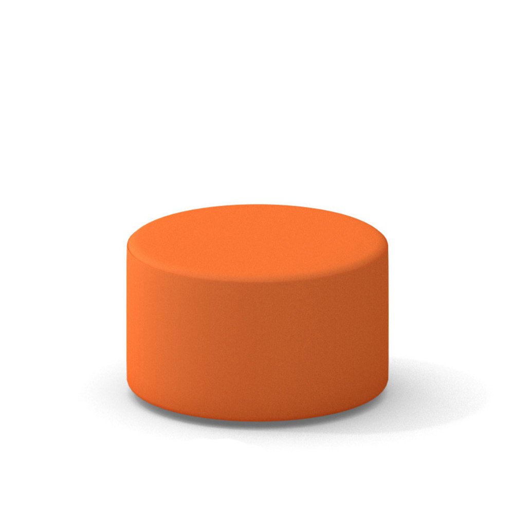 campfire ottoman orange modern office furniture  poppin -