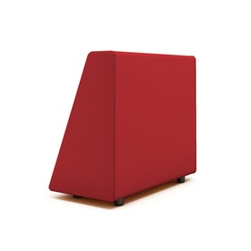 Campfire Wedge Sofa-Chair Arm, Red