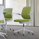Lime Green Cobi Desk Chair, White Frame,Lime Green,hi-res