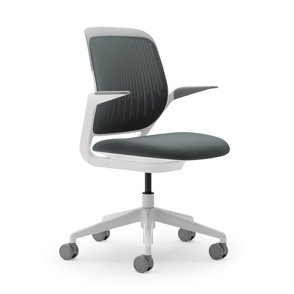 black and white office furniture. Gray Cobi Desk Chair, White Frame,Gray,hi-res. Loading Zoom Black And Office Furniture