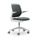 Gray Cobi Desk Chair, White Frame,Gray,hi-res